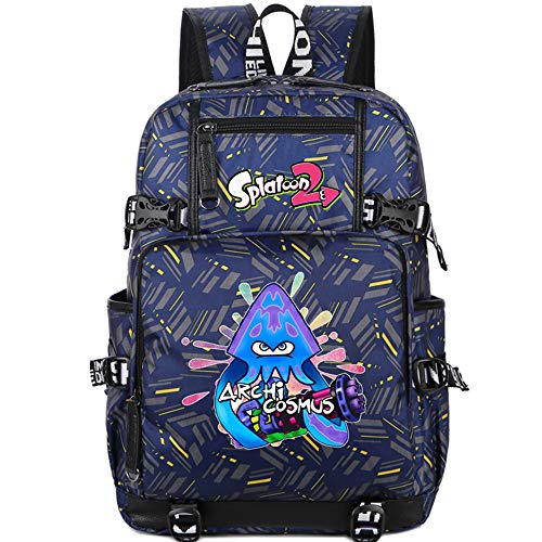 RgzzGaqm 2019 Splatoon 2 Laptop Bag for Teenagers Bookbag Boys Backpack 3D Printed Student Bag Kids School Bags for Boys Anime Children Backpacks Teenage Girl Fashion Cute Back Pack -