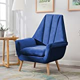 Warmiehomy Modern Velvet High Wing Accent Chair Bedroom Living Room Armchair Occasional Chair