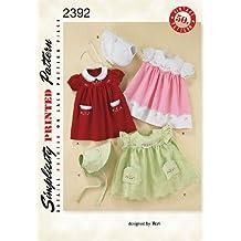 Simplicity 2392 - Patrón de costura para ropa de bebé (todas las tallas)