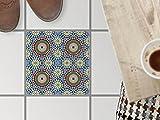 creatisto Fliesensticker Dekoraufkleber | Bodenfliesen-Aufkleber Folie Sticker Selbstklebend Küche renovieren Bad Deko Küche | 33,3x33, Muster Ornament Orientalisches Mosaik - 1 Stück