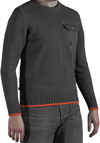 Musterbrand-World-of-Tanks-Strick-Pullover-Herren-The-Duty-Sweatshirt-Grau
