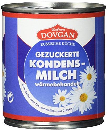 Dovgan Gezuckerte Kondensmilch,  8 prozent Fett,  Easy Open, 6er Pack (6 x 397 g) Test