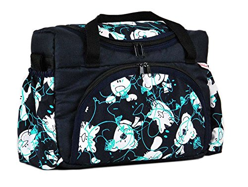 Wickeltasche Kinderwagentasche Braun + Vertigo #24 mit Wickelunterlage 52. Marine Blau + Bäre