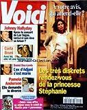 VOICI [No 472] du 25/11/1996 - LES TRES DISCRETS RENDEZ-VOUS DE LA PRINCESSE STEPHANIE - JOHNNY HALLYDAY - APRES LE CONCERT DE LAS VEGAS - CARLA BRUNI VIT UNE HISTORE FORTE - DANIEL DAY-LEWIS - L'EX D'ADJANI S'EST MARIE - PAMELA ANDERSON DEMANDE LE DIVORCE -
