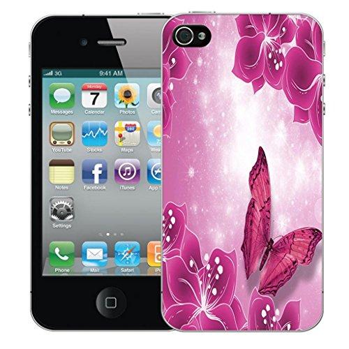 Nouveau iPhone 4 clip on Dur Coque couverture case cover Pare-chocs - mexican owls Motif avec Stylet lavish butterfly