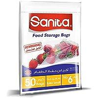 Sanita Food Storage Bags 6, 50 Bags, Oxo Biodegradable, Clear