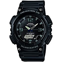 Casio Men's AQ-S810W-1A2VEF Quartz Watch with Black Dial Analogue Digital Display and Black Resin Strap