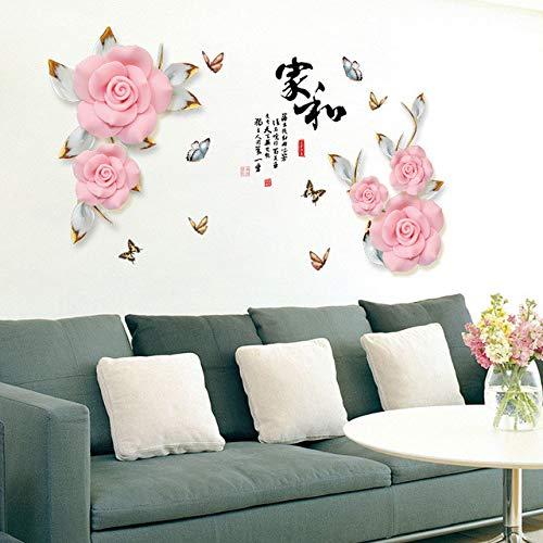 169x103cm adesivi murali con fiori romantici divano letto tv adesivi decorativi stile cinese oggettistica per la casa soggiorno decalcomanie da muro per camera da letto