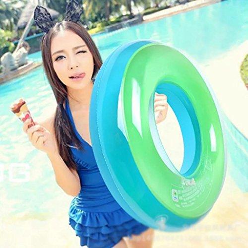 Schwimmer Erwachsene dickere Achselhöhle Rettungsschwimmer Frauen doppelte Koje Sicherheit aufblasbare Erhöhung Kinder Schwimmen Ring Inflater , blue , 90cm