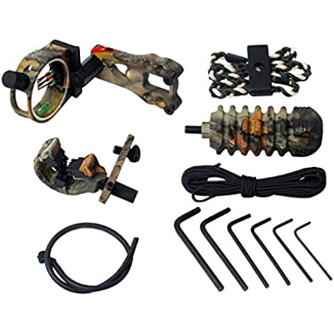 Accesorio Tiro C/ Arco de 5 Pines Arco / Mirilla Puntería Resto Flecha Estabilizador Honda Arco