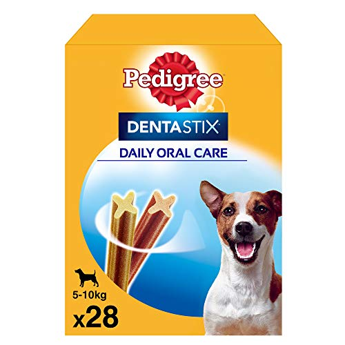 Pedigree Dentastix de uso diario para higiene oral para perros pequeños - Pack de 28 sticks