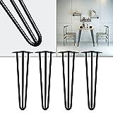 Tischbeine Hairpin Legs Tischgestell 4er Set Tischkufen Haarnadelbeine schwarz 45cm
