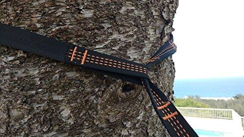 RocFitness® Hängematte aus 100% RipStop Nylon (Fallschirmseide) inkl. 2 Spezialschlaufen für besseren Halt - 4