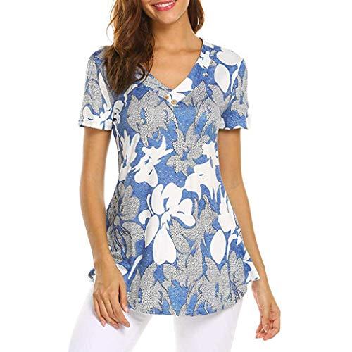 TWIFER Damen TWIFER Damenmode Kurzarm Gedruckt Top Fashion T Shirt Tops Bluse