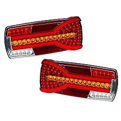 2x LED neon indicatore di coda 12V 24V luci lampade con indicatori di direzione dinamica e-contrassegnato