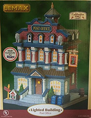 2007 Lemax Caddington Village Collection Post Office Lighted Building by Lemax