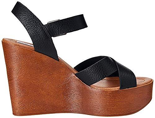 Steve Madden Frauen Piranna Offener Zeh leger Leder Sandalen mit Keilabsatz Braun Groesse 9 US /40 EU (Keil-sandale Steve Madden Von)
