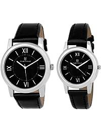 TIMEWEAR Analogue Black Dial Men's & Women's Couple Watch (916Bdtcouple)