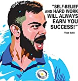 #9: Canvas Wall Painting / Virat Kohli Quote Printed Unframed Modern Canvas Wall Art Painting by 100yellow- 12 x 12 Inch