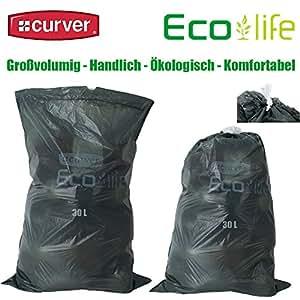 4 Rouleaux de 20 sacs poubelle curver eco life sac de recyclage réduit de 30 l
