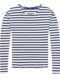 Scotch & Soda Friend Fit Long Sleeve tee In Breton Stripes, Camiseta para Mujer