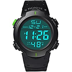 QBD Digital Boys Large Sport Digital Watch with Alarm Stopwatch Chronograph - 50m Water Proof Green