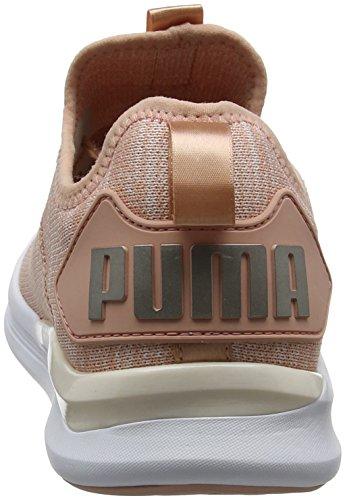 Puma Ignite Flash Evoknit Satin EP Wn's, Scape per Sport Outdoor Donna Beige (Peach Beige-pearl-puma White)