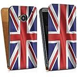 HTC One M7 Tasche Hülle Flip Case England Flagge Großbritannien