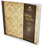 GOCKLER® Notiz-Kalender: Universaler Tagebuch-Kalender || 1 Zeile pro Tag + Notizseiten + Glänzendes Softcover || Ideal für Geburtstage, To Do's & Termine || DesignArt.: Royale Tapete