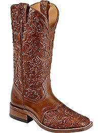 Botas de los EE.UU.-Botas, botas de cowboy BO-2015-50-C (pie normal), diseño de mujer, color marrón