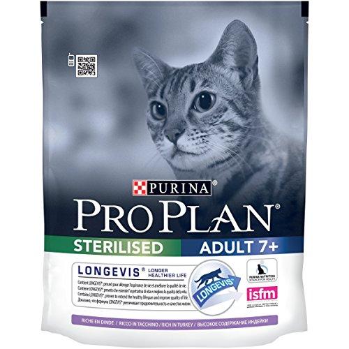 PRO PLAN Sterilised 7+ avec LONGEVIS 400 g - Croquettes pour chat sénior