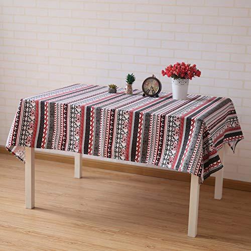 JJHR Tischwäsche Stoff Baumwolle Leinen Tischdecke Wohnzimmer Esszimmer Rechteckigen Nachttisch Tv Schrank Couchtisch Tuch -