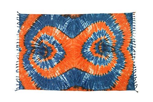Großer Sarong Ca 170cm x110cm Pareo Wickelrock Wickeltuch Badeunterlage Saunatuch Schal Loop Wickeltuch Wickelkleid Batik Muster Bunt -
