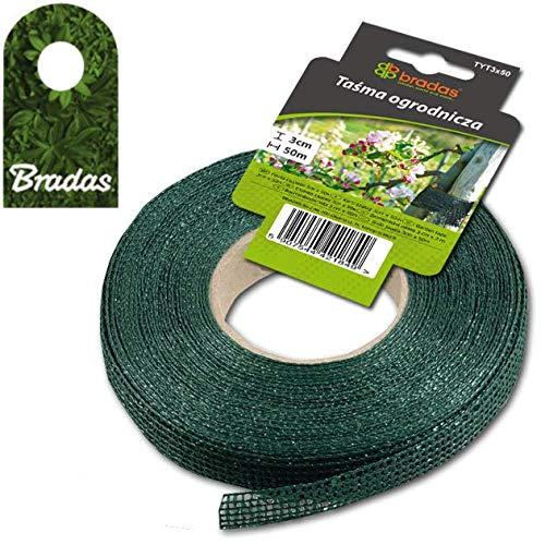 Bradas Baumanbinder 3cmx50m grün Rolle Baumbinder Pflanzenbinder Bindeband Pflanzenband TYT3X50 1849