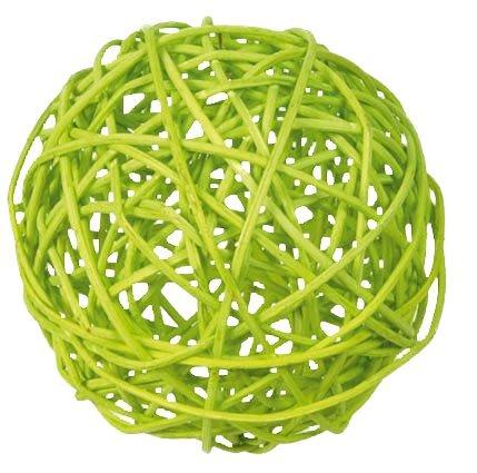 Discount Mariage - Sachet de 10 boules rotin diamètre assortis anis