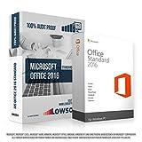 Microsoft Office 2016 Standard. Original-Lizenz. 32 bit & 64 bit. Deutsch. MS Audit Sicher + ISO DVD, Lizenz. Inkl. Papiere, Zertifiziert