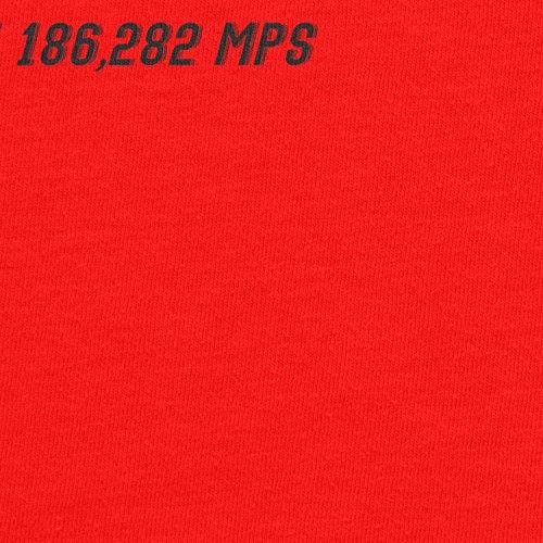 Planet Nerd - Flash Faster Than 18682 MPS - Herren T-Shirt Rot