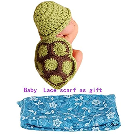 Feng Cute Baby Infant Tortoise Newborn Turtle Costume Photo Photography Prop 0-6 mon