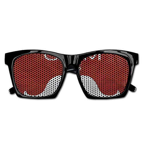 EELKKO Mesh Sunglasses Sports Polarized, Ho Ho Ho Quote with The Iconic Santa Mustache Joyful Christmas Feliz Navidad,Fun Props Party Favors Gift Unisex