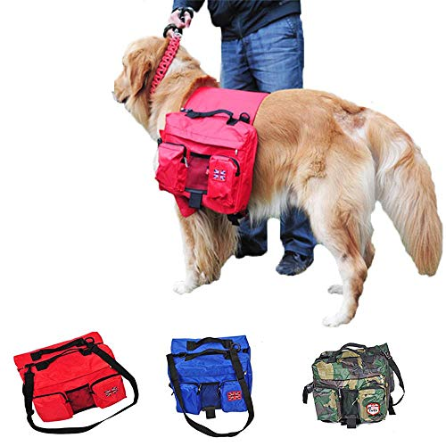 ZiXian Die globale online - shop Golden Retriever Pet Sattel Rucksack Oxford Stoff Hundetransport Tragetasche Outdoor Travel Wandern -