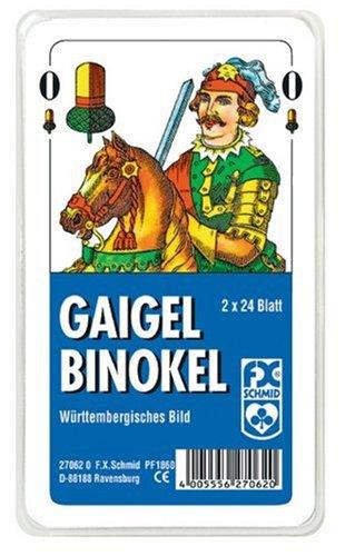 Ravensburger 27062 - Gaigel/Binokel - Württembergisches Bild - 2x24 Blatt, glasklares Etui