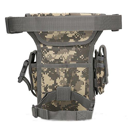 Multifunzione Tattico Leg Bag Maschio e femmina Nylon Outdoor militare gli appassionati singolo Borsa a tracolla con combinazione pacchetto, Army Green CP camo
