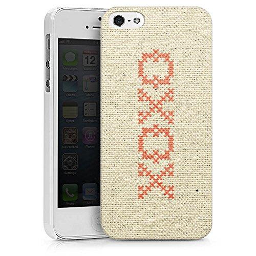 Apple iPhone X Silikon Hülle Case Schutzhülle xoxo Love Hugs Kisses Spruch Muster Hard Case weiß