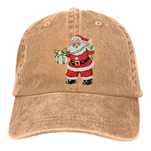 dfegyfr Retro Vintage Santa Claus Xmas Christmas Holiday Unisex Adjustable Baseball Kappen ()