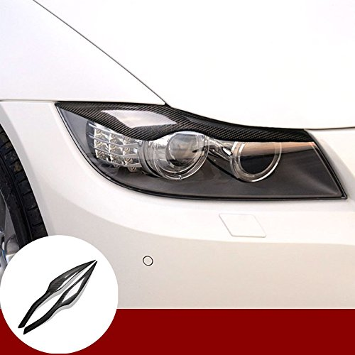 Yiwang Autocollant en fibre de carbone v/éritable pour grille da/ération de voiture S/érie 3 E90 E92 2005 2012