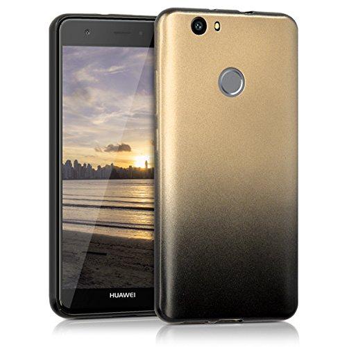 kwmobile Huawei Nova Hülle - Handyhülle für Huawei Nova - Handy Case in Anthrazit Gold
