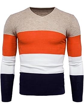 HDYS Los hombres suéter otoño e invierno cálido color hechizo-yi ,caqui,xl