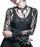 Devil Fashion Bolero Jäckchen Spitzen Shirt Langarm Gothic Lolita Visual Kei (S)