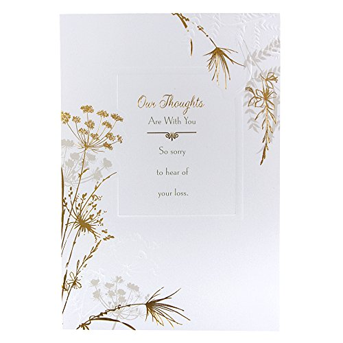 Hallmark Sympathy Card 'Thoughts Are With You' - Medium Test