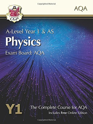 New 2015 A-Level Physics for AQA: Year 1 & AS Student Book with Online Edition by CGP Books (May 21, 2015) Paperback